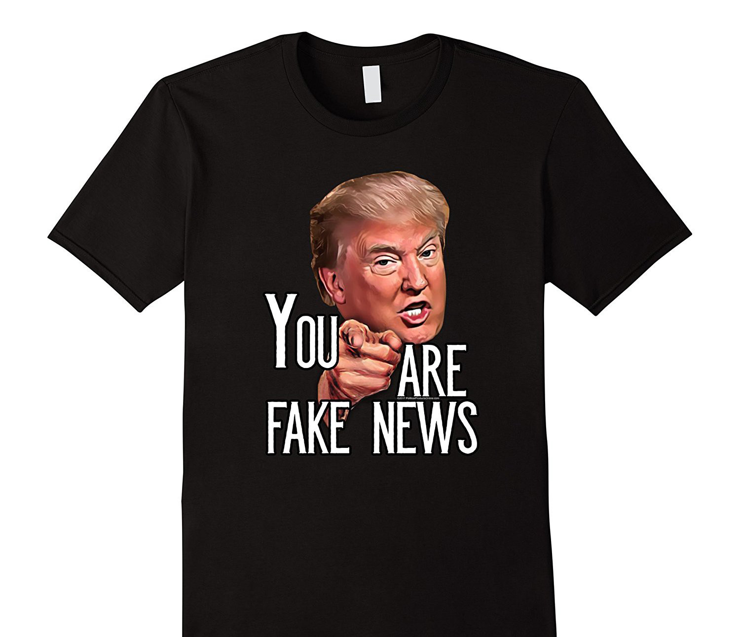 Mens Funny President Trump You Are Fake News Meme T Shirt New Brand Clothing T Shirts image