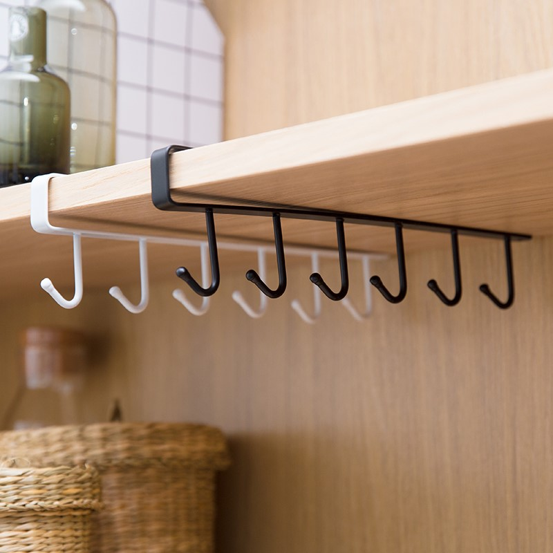 Holder Hang Kitchen Cabinet Under Shelf Storage Rack Organizer Iron Multifunction Kitchenware Storage Hook WJ10312