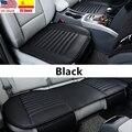 Универсальные автомобильные защитные чехлы на сиденье автомобиля коврик из дышащей искусственной кожи для автомобиля передний чехол на за...