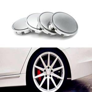 4 шт./лот 65 мм Хромированные крышки для колес, колпачки для колес из сплава, обода для универсальных автомобильных аксессуаров