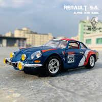 Bburago 1:24 Renault Alpine A110 1600 coche de simulación de aleación de metal modelo adornos para manualidades de juguete colección de herramientas regalo