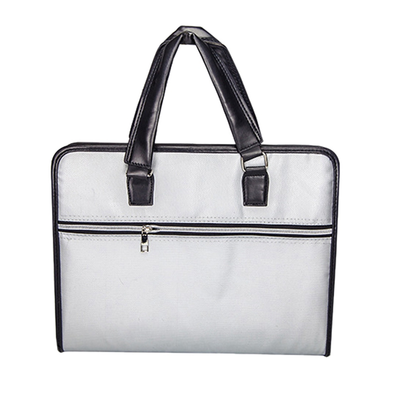 Fireproof File Folder Document Bag Waterproof Pouch Case Safe Zipper Office