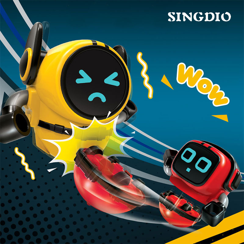 Latest Plastic New Pull Wind Up Clockwork Toy Inertia Robot Small Fidget Spinning Top Spinner Game Kinetic Desk Kid Toy