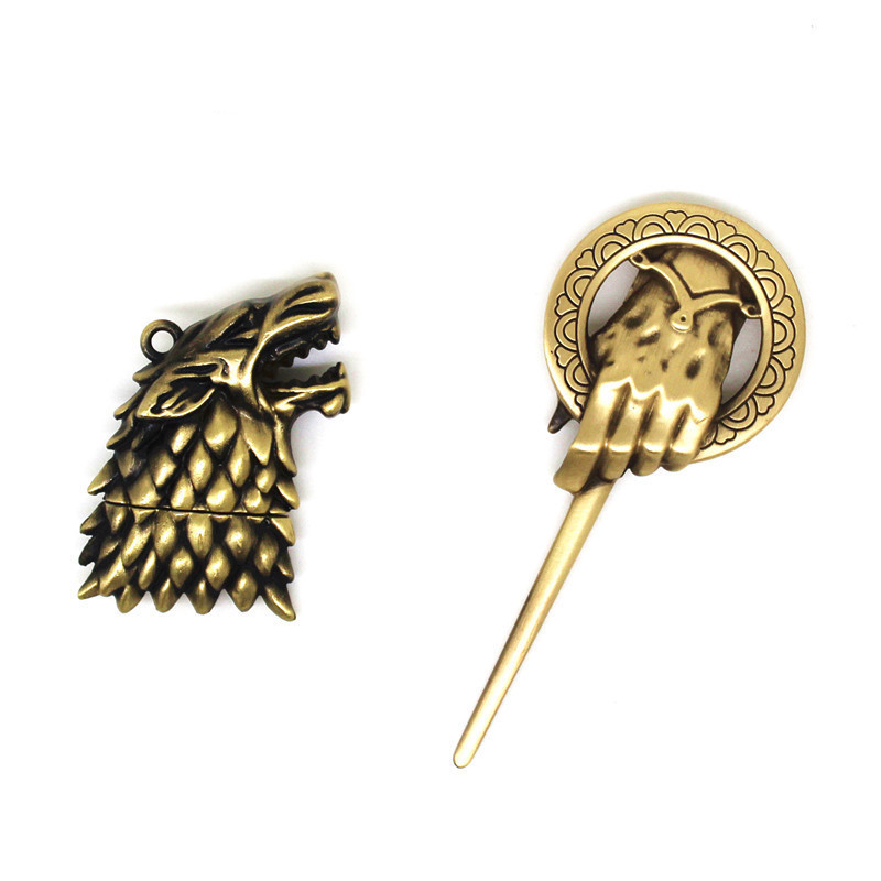 USB Flash Drive 128MB Game Of Thrones Menory Stick Pen Drive 4GB 8GB Hand Of The King Brooch Pendrive 16GB 32GB 64GB U Disk