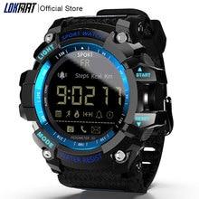 LOKMAT Smart Watch 2020 นาฬิกาบลูทูธดิจิตอลนาฬิกาผู้ชาย Pedometer smartwatch กันน้ำ IP68 กีฬาสำหรับ iOS Android โทรศัพท์
