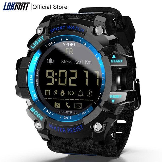 Lokmat Smart Horloge 2020 Bluetooth Digitale Mannen Klok Stappenteller Smartwatch Vrouwen Waterdichte IP68 Sport Voor Ios Android Telefoon