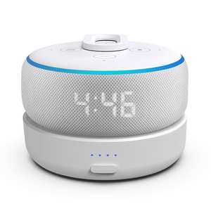GGMM Battery-Base Smart-Speaker Echo Dot Alexa Amazon Play-Time for 3rd-Gen with of 8-Hours