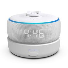 Base de bateria de ggmm d3 para alexa amazon eco ponto 3rd gen alto falante inteligente com carregador de bateria recarregável com 8 horas de jogo tempo