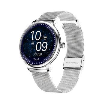 NY12 New Arrival Stylish Women Smart Watch Round Screen smartwatch for Girl Heart rate monitor For Android IOS Bracelet fitness