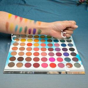 Image 2 - ICYCHEER איפור 63 צבעים קשת צבעים צלליות הבלחה Gltter מט שמנת צלליות פיגמנט maquillage paleta דה sombra