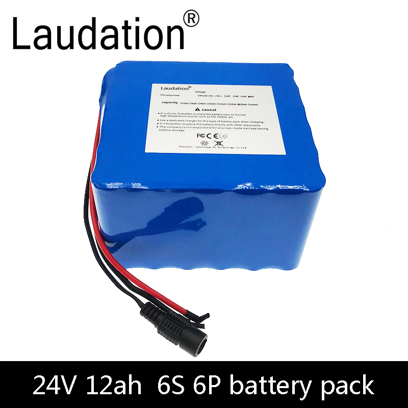 Bicycle <font><b>Battery</b></font> 24V <font><b>12ah</b></font> 6S6P <font><b>Lithium</b></font> <font><b>Battery</b></font> 25.2V <font><b>12Ah</b></font> <font><b>Lithium</b></font>-<font><b>Ion</b></font> rechargeable <font><b>battery</b></font> 350W E Bicycle 250W (Without Charger) image