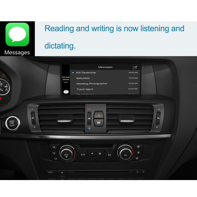 Bezprzewodowy CarPlay dla systemu BMW CIC NBT X3 F25 X4 F26 2011-2016, z funkcją Android Mirror Link AirPlay Car Play