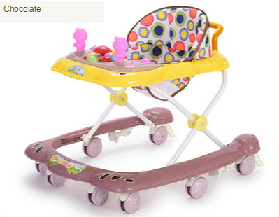 new Baby Walker Multifunctional Anti-rollover 6 / 7-18 Months Hand Push Can Sit Folding Boy and Girl Baby Walker