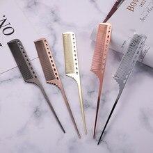 Peigne professionnel antistatique en aluminium, brosse de coiffure Durable pour Salon de coiffure
