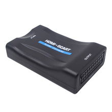 1080P HDMI To Scart Converter Audio Video Adapter HDMI To SCART For HDTV Sky Box STB For Smartphone HD TV DVD 1080p scart hdmi to hdmi video audio upscale converter scart to hdmi converter av signal adapter hd receiver
