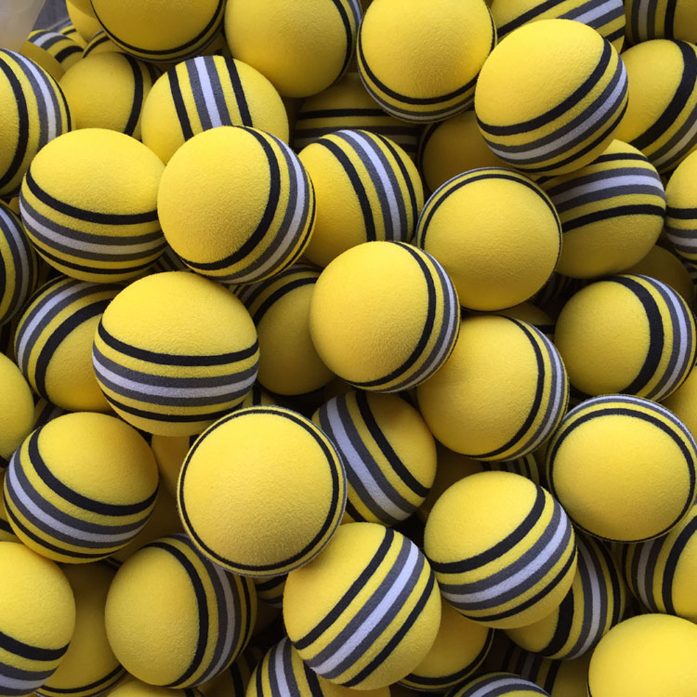 50pcs/bag  EVA Foam Golf Balls Hot new  Yellow/Red/Blue Rainbow Sponge Indoor golf Practice ball  Training Aid