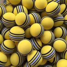 50 개/가방/가방에 바 거품 골프 공 뜨거운 새로운 노란색/빨간색/파란색 무지개 스폰지 실내 골프 연습 공 훈련 보조
