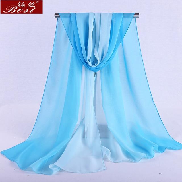 Chiffon scarf gradient women hijab winter brand autumn red long scarfs poncho luxury ladies scarves shawl sjaal long bohemian gg 6