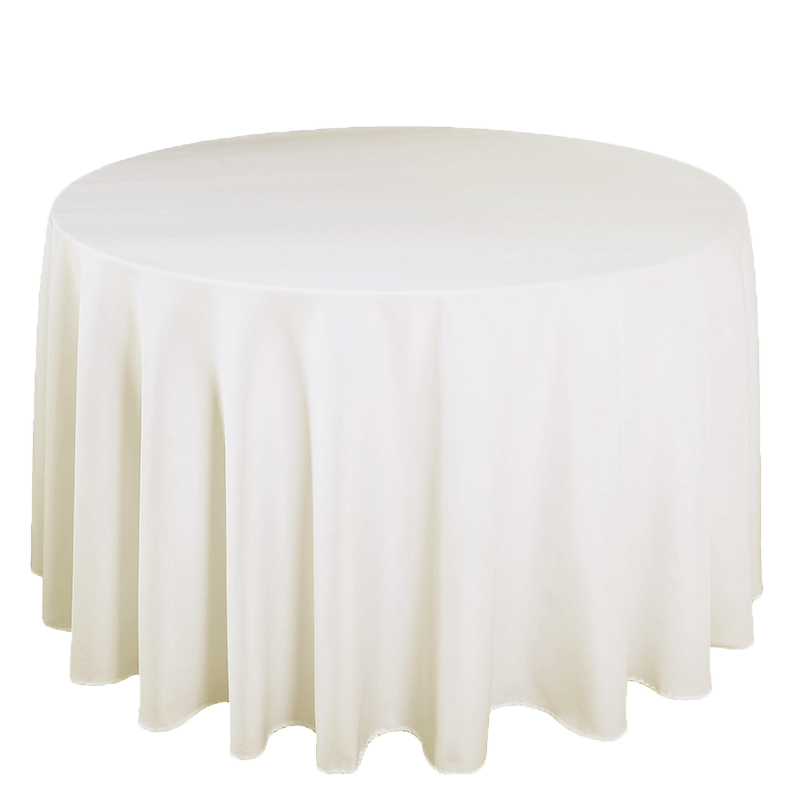 10PCS/Lot Wedding Table Cloth Polyester Round Rectangular for Banquet Restaurant Party Dining Hotel Machine Washable Table Linen-in Tablecloths from Home & Garden    2