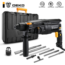 AC Rotary-Hammer Drill-With-Accessories Impact-Rate Electric DEKO 4-Functions 220V 26mm
