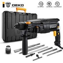 Deko gj180/gj181 220v 26mm 4300/min taxa de impacto 4 funções ac elétrica broca de martelo rotativo com acessórios e caixa bmc
