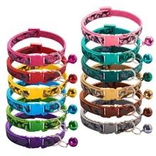 Новые ожерелья для кошек ожерелье Chivava ошейник для кошки Collier Pour Chaton животных набор теней Kat Halsband из мягкого нейлона красочный для небольших