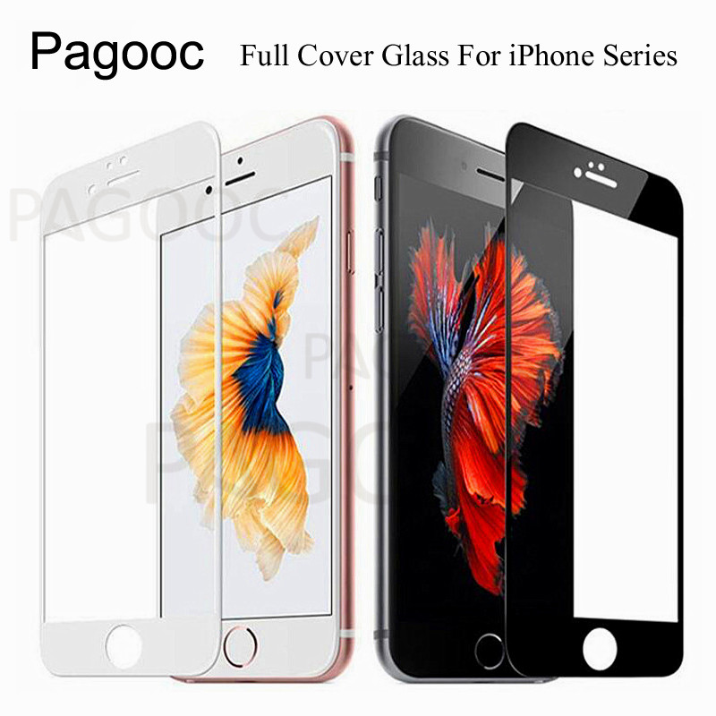 Protective Glass For Apple IPhone 5 5S SE 6 6S 7 8 Plus Tempered Screen Protector Glass Full Cover On IPhone 8 X XS Max XR Film