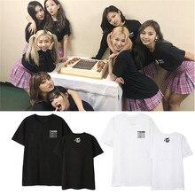 Kpop TWICE WORLD TOUR TWICELIGHTS Album Shirts Hip Hop Streetwear Loose Tshirt T