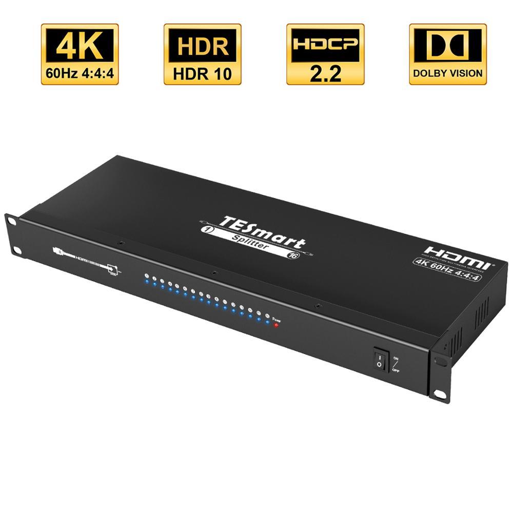 4k HDMI Splitter 16 Ports HDMI 1x16 HDMI Splitter 1In 16 Out HDCP2.2 Support 3840*2160@60Hz Splitter