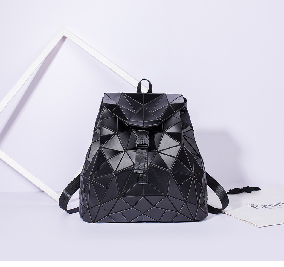 H697df8ffbf414c5baa888f399b1cc58aO - Women backpack school bag large capacity foldable geometric