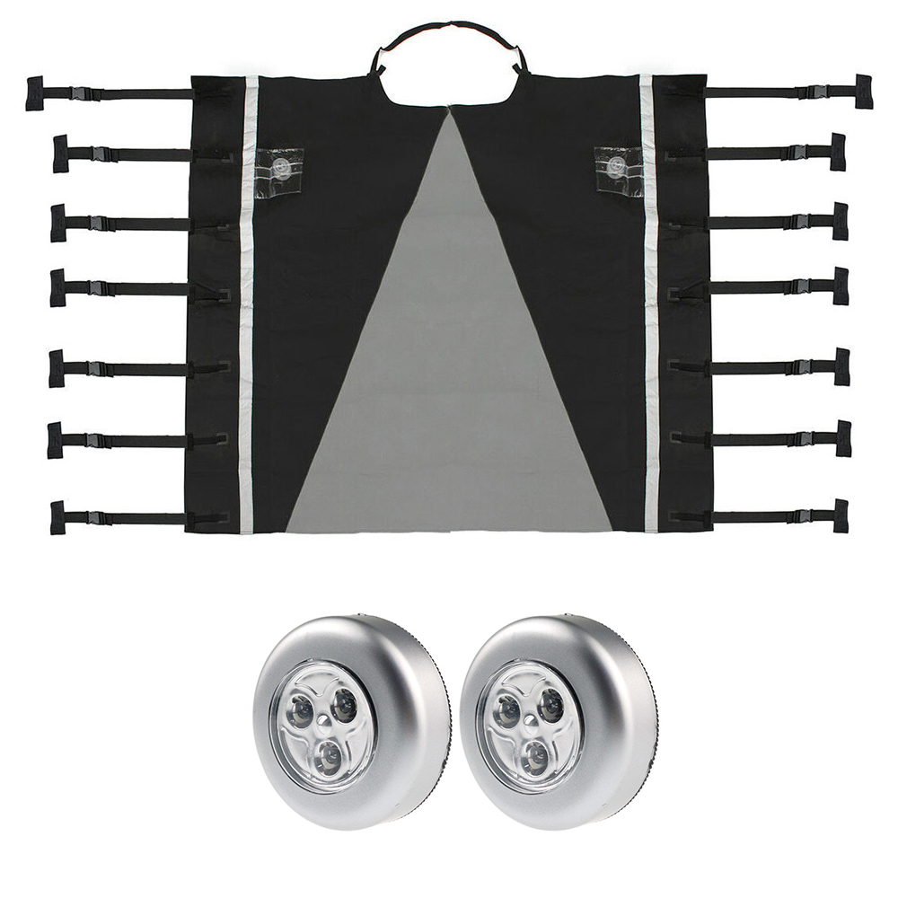 Universal Caravan Front Towing Cover Protector Covers 220cm X 175cm Front Towing Cover Reflective Strip Dustproof Accessories