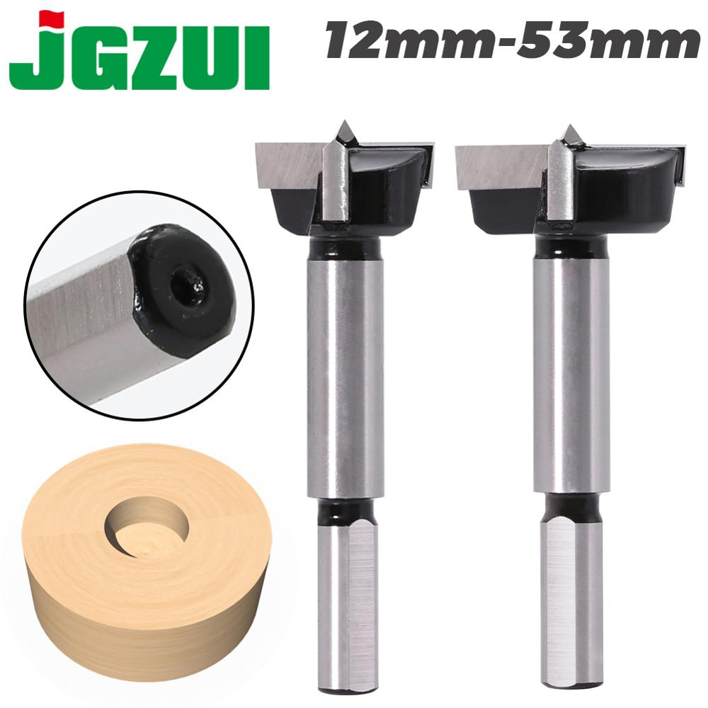 1pcs12mm-53mm Triangular Handle Woodworking Hole Opener Hole Saw Cutter Hinge Boring Drill Bits Round Shank Tungsten Carbide