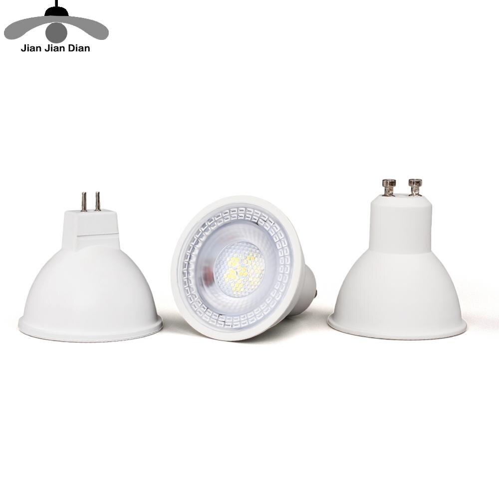 Светодиодный точечный светильник MR16 GU10 GU5.3, 6 Вт, 220 В, 240 в, 110 В, 12 В, SMD Точечный светильник, энергосберегающая лампа для домашнего декора, cfl
