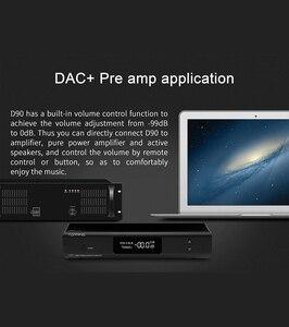 Image 4 - أعلى D90 MQA AK4499 AK4118 بلوتوث 5.0 كامل متوازن DAC فك ، XMOS XU216 ، DSD512 PCM 32bit/768kHz ، جهاز التحكم عن بعد ،