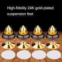 4 pièces/ensemble haut parleur pieds de support de pointe patins de Base de cône platine vinyle collante Subwoofer CD amplificateur Audio avec adhésif Double face|Accessoires enceintes| |  -