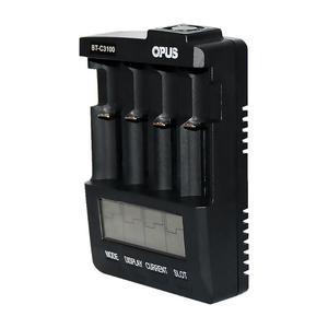 Image 3 - Yeni OPUS BT C3100 Li ion pil şarj cihazı NiMH pil şarj cihazı V2.2 evrensel dört yuvaları LCD akıllı şarj edilebilir pil şarj cihazı