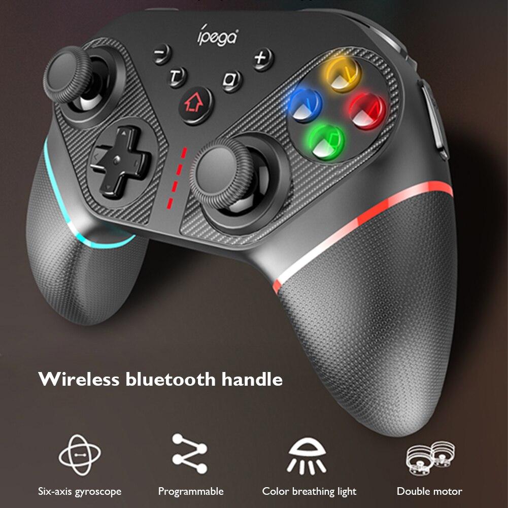 Wireless Game Controller PG-SW038 6-Achse Programmierbare Bluetooth Gamepad mit Turbo für Nintendo Schalter PS3 Android PC Computer