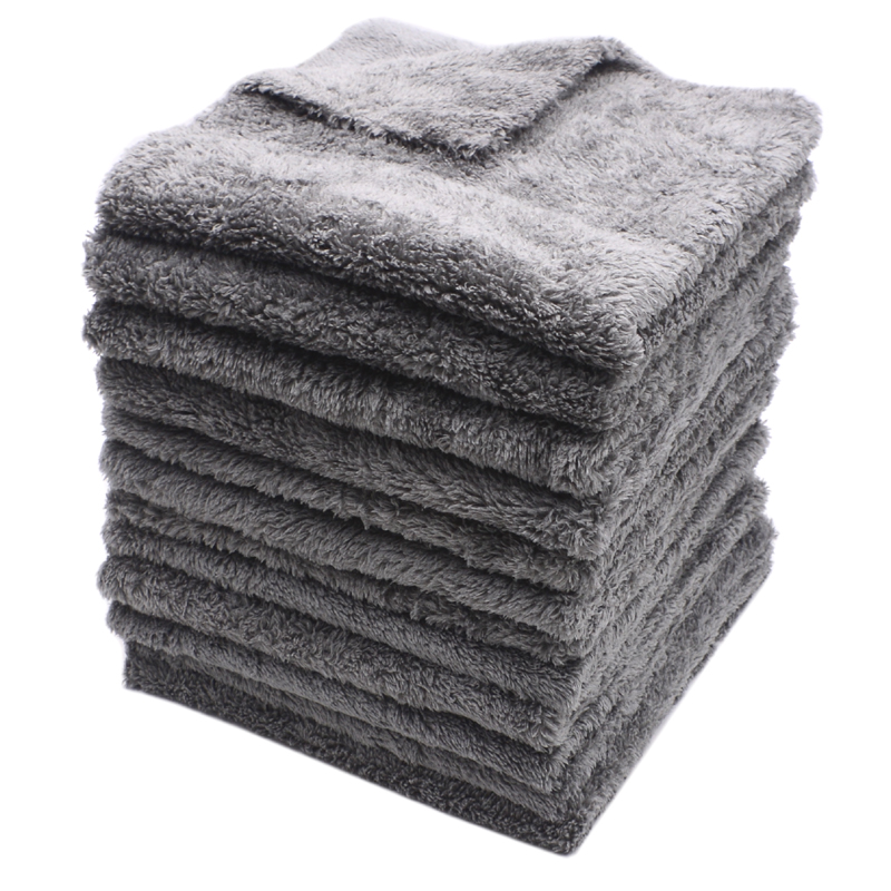 12PCS 350GSM Ultra-Thick Edgeless Microfiber Towels Car Cleaning Cloth Auto Wash Waxing Drying Polishing Detailing Towel