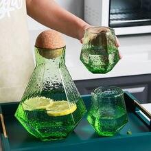 Стеклянный чайник кувшин для воды холодный горшок яблоко зеленое