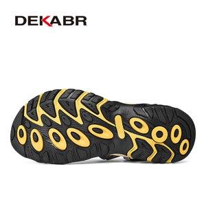 Image 4 - DEKABRฤดูใบไม้ผลิฤดูร้อนผู้ชายรองเท้าแตะคุณภาพสูงสบายๆรองเท้าคุณภาพดีออกแบบOutdoor Beachรองเท้าแตะสไตล์โรมันน้ำรองเท้าผ้าใบ