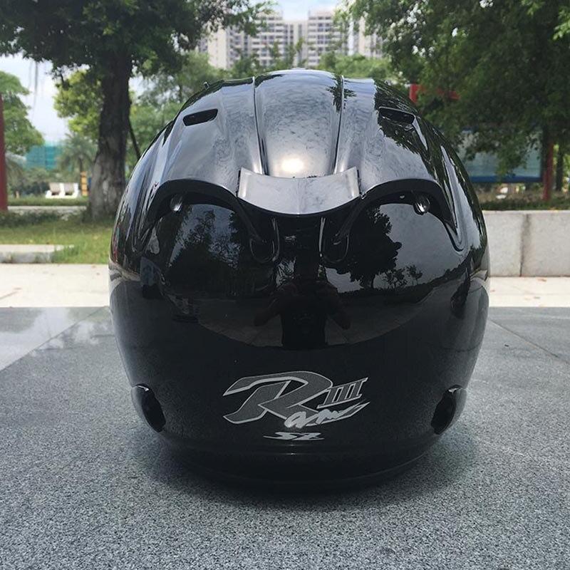Шлем мотоциклетный с открытым лицом, верхняя часть шлема из АБС-пластика, для мужчин и женщин, черный