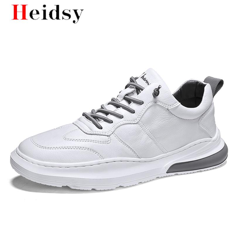 Men's Sneakers Soft Leather Casual Flat Shoes Brand Men Sneakers Fashion Trend Man Skateboard Small White Shoes Zapatos Hombre