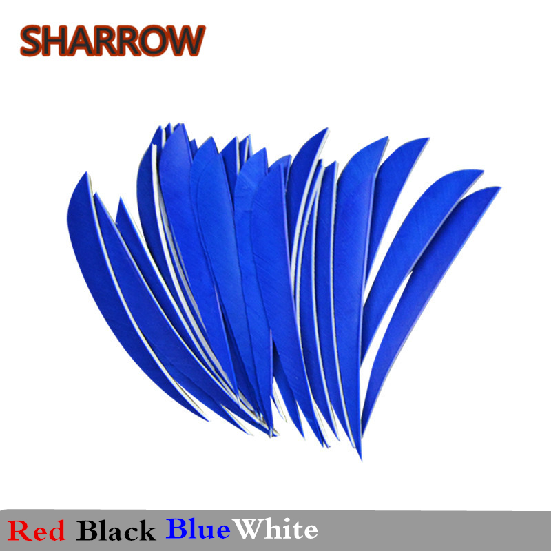 """20//50pcs 5/"""" Arrow Feather Natural Turkey Fletches Right Left Wings DIY Hunting"""