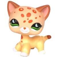 Лпс стоячки кошки Игрушки для кошек lps, редкие подставки, маленькие короткие волосы, котенок, розовый#2291, серый#5, черный#994,, коллекция фигурок для питомцев - Цвет: 852
