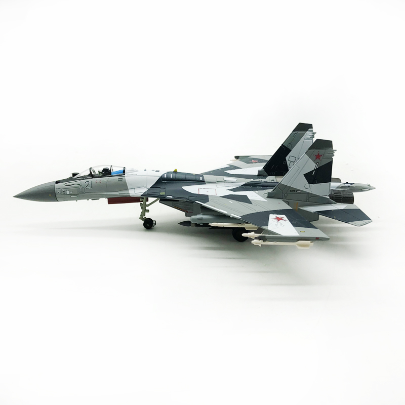 Hot-Blooded 1/100 SU-35 Super Flanker 21 <font><b>Aircraft</b></font> Collection <font><b>Model</b></font> For Gift Military <font><b>model</b></font> image