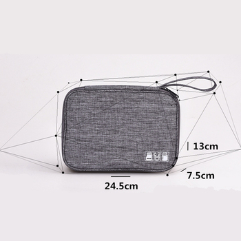 Travel Closet Organizer Case For Headphones Storage Bag Digital Portable Zipper Travel Accessories Charger Data Cable USB Bags