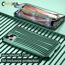 CASEIER Metal Magnetic Case For iPhone 11 Pro Max XS XR All-round Protection Magnet Case For iPhone 11 Pro Max 7 8 Plus Funda(China)