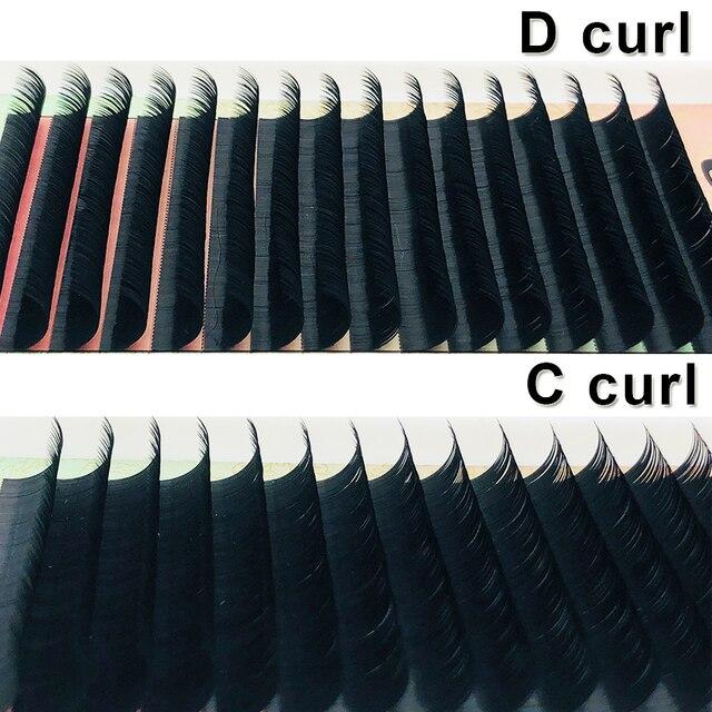 High Quality 16Rows 8-18mm Length Faux Mink Eyelashes Individual Eyelash Lashes Soft Eyelash Extension False Eyelash 3