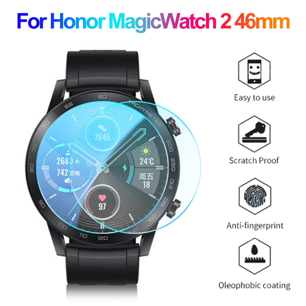 3D Curved Edge Tempered Glass Protective Film HD Screen Protector for Honor Magic Watch 2 46mm Smart Watch Accessories 2