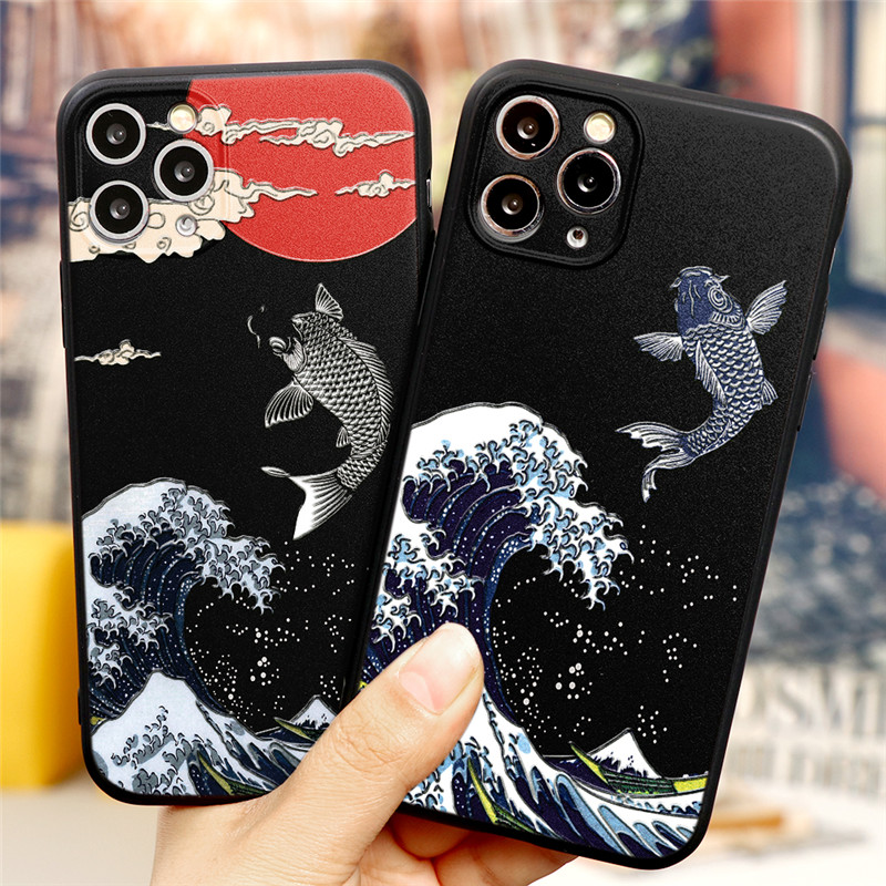 Luxury 3D Art Cartoon Emboss Relief TPU Cover Phone Case For iPhone 12 Pro Max 1